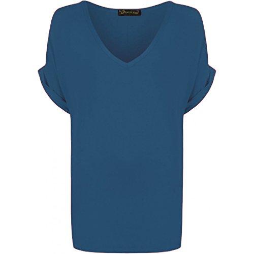 Teal shirt T Donna 1st Fashion W1wY6Sp7q