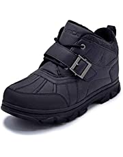 Nautica Men's Grimstead Lace Up Buckle Duck Toe Winter Ankle Snow Boots