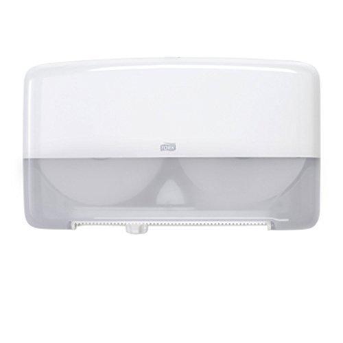 Tork 5555200 Elevation Bath Tissue Jumbo Roll Mini Twin Dispenser, White by Tork