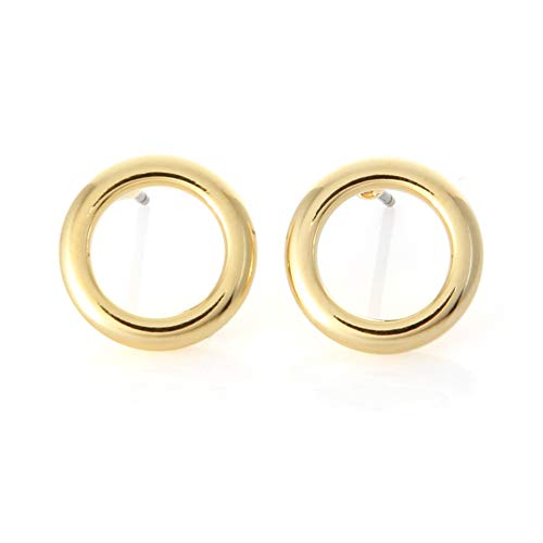 LAONATO Open Circle Earrings Plated Brass (Gold)