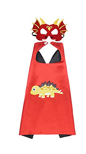 HugeHug Halloween Dinosaur Cape and Mask Cloak Role