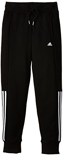 adidas Kinder Sporthose Essentials Slim Fit RSM YG, Schwarz/Weiß, 170, 014206982