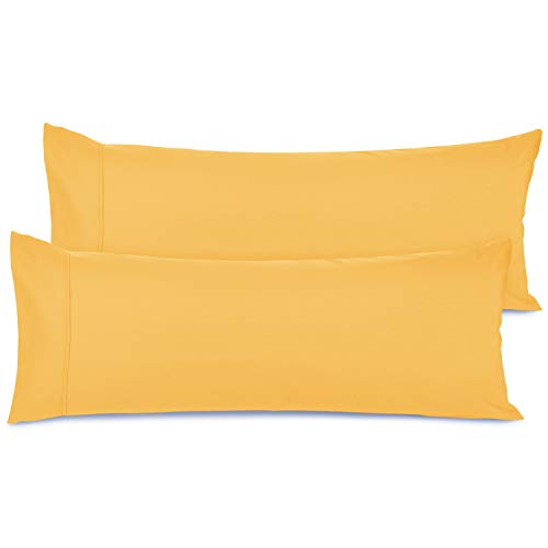 Nestl Bedding Body Pillow Case Set of 2 - Double Brushed Microfiber Hypoallergenic Pillow Covers - 1800 Series Premium Bed Pillow Cases, 20