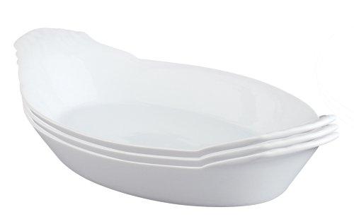 12 Ounce Casserole (HIC Porcelain Oval Au Gratin 10-inch, Set of 3)