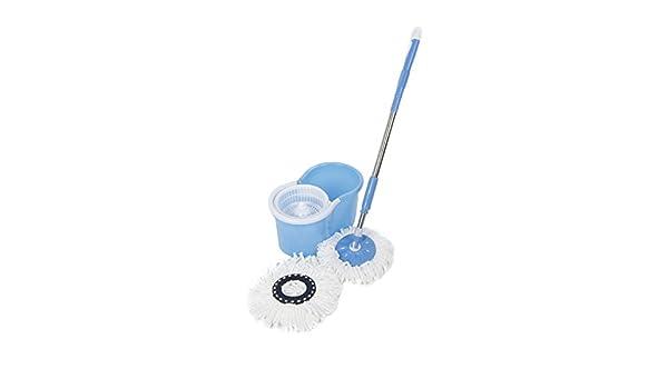 flyelf giro de 360 ° fregona con cubo Escurrir Limpiador Azul ...