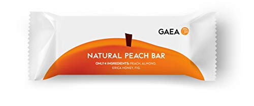 Gaea Fruit and Nut Bar - Peach Trail Mix Bar Made with Only Four Ingredients - No Sugar Added - 35 g Bars, Pack of 24