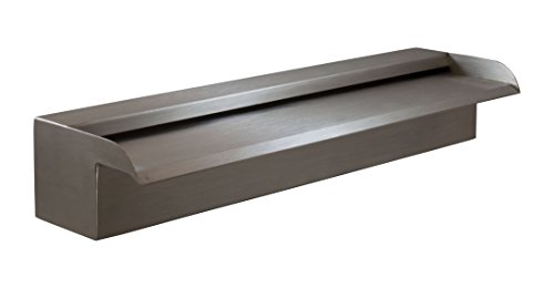 Nakano 18'' Waterfall Spillway for Fountains, Pools, Ponds - 316 Stainless (Recommended) by Majestic Water Spouts