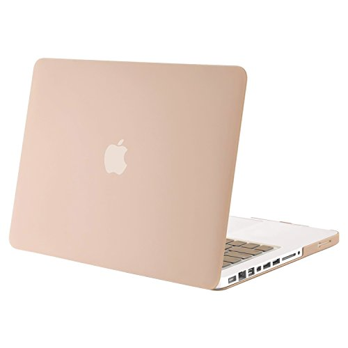 MOSISO Plastic Hard Shell Case Cover Only Compatible Old MacBook Pro 13 Inch (A1278 CD-ROM), Release Early 2012/2011/2010/2009/2008, Camel