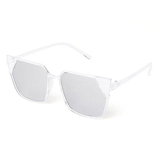 JAGENIE 11 Gafas de venta cuadradas de para UV400 sol marco 12 protección espejo qqPrU