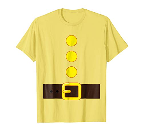 YELLOW DWARF COSTUME T-shirt Matching Group Halloween Kids
