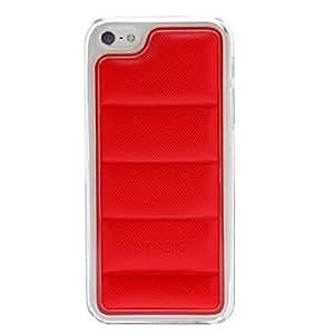 Cotton Wadded estuche rígido Diseñado con marco transparente para el iPhone 5/5S (colores surtidos) , Rojo