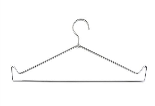 X-Ray Lead Apron Storage Hanger, Open Top Chrome Wire