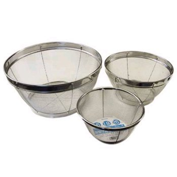 Happy Sales HSQL036/A, Stainless Mesh Colander - 3