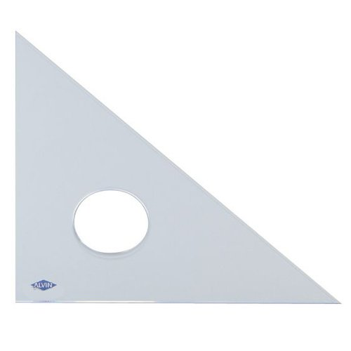 Alvin 131C-16 45-Degree/90-Degree 16'' Clear Professional Acrylic Triangle