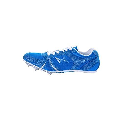 health running spikes blue
