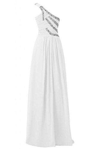 White abiti Strap elegante sera da Custodia Sunvary Spazzola splendida asimmetrici per wpvqvS