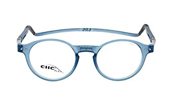 CLIC Reading Glasses, FLEX CBX-FDDN FROST Blue +02.50