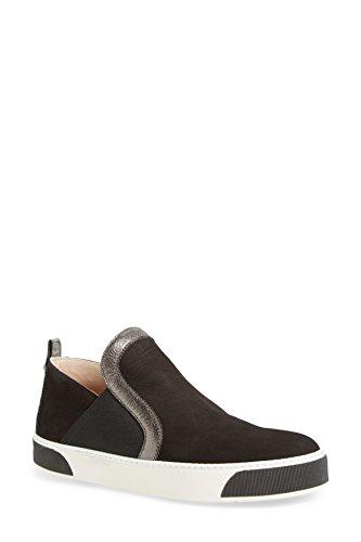 Stuart Weitzman Kvinna Nolita Slip-on Sneakers Svart Nubuc 9,5 B (m) Us