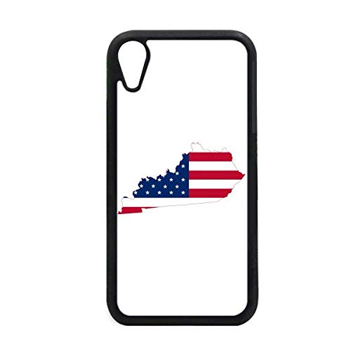 Kentucky USA Map Stars Stripes Flag Shape iPhone XR iPhonecase Cover Apple Phone Case