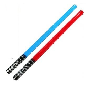 Pack of 2 Inflatable Light Saber Toys