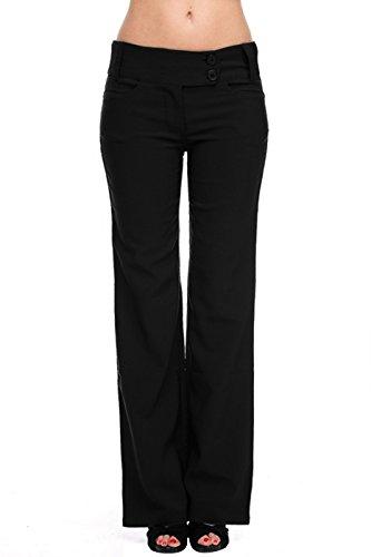 juniors black dress pants - 5