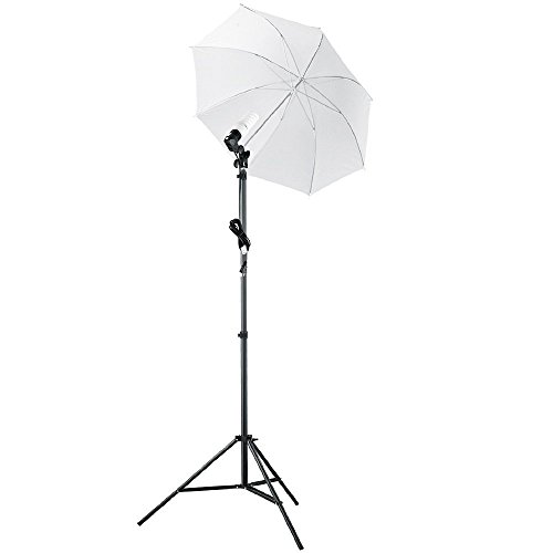 StudioFX (1) 84'' Photo Light Stand Snow-White Umbrella Light/INCLUDES 45W 5500K Bulb HDK1 by Kaezi Photography