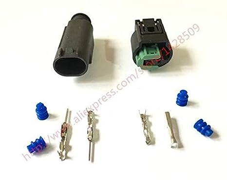 Davitu 10 Set Auto 2 Pin Male Female Wire Connector Engine Coolant Temp Water Temperature Sensor Plug For BMW Buick 1-967644-1 - - Amazon.com