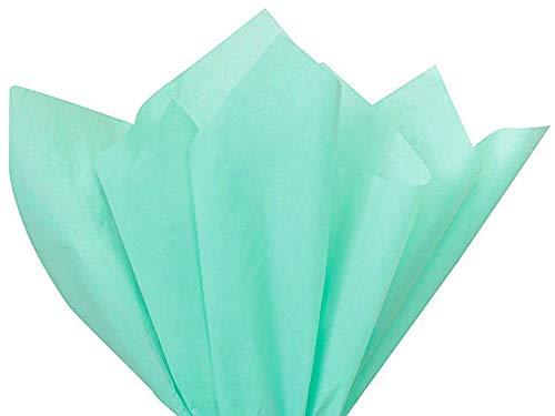 Aqua Blue Tissue Paper - 15 Inch x 20 Inch - Bulk 100 Sheets