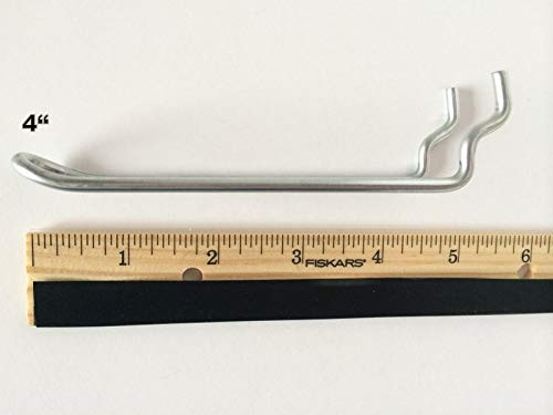 (250 PACK) 4'' Looped Metal Peg Hooks w/Elevated Tip Fits 1/8 & 1/4 Pegboard by STRIKE (Image #4)