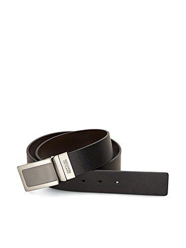 Kenneth Cole REACTION Men's Reversible Plaque Buckle Belt (Leather Plaque Buckle Belt)