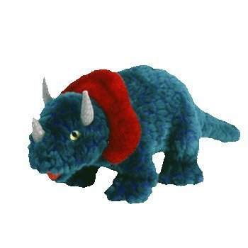 1 X TY Beanie Buddy - HORNSLY the Dinosaur by Beanie Buddies
