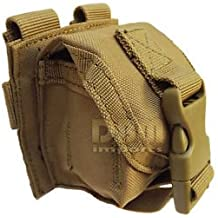 TAN Tactical M67 One Single Frag Hand Grenade Pouch Molle Pals Bag Holds 1