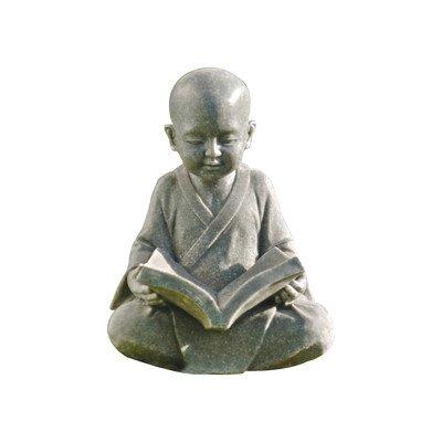 Design Toscano Baby Buddha Studying The Five Precepts Asian Decor Garden Statue, 12 Inch, Greystone ()