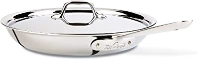 All-Clad Stainless Steel Tri-Ply Bonded Dishwasher Safe Fry Pan with Lid