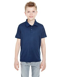 UltraClub Youth Cool & Dry Mesh Piqué Polo NAVY XL ()