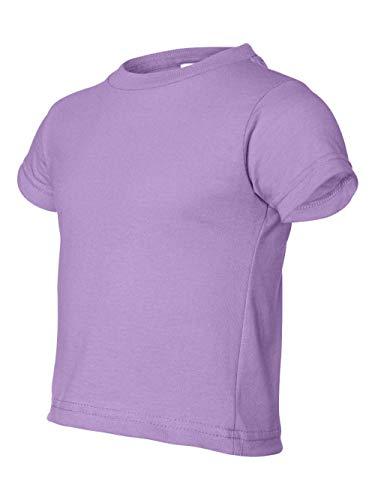 (Rabbit Skins 5.5 oz Toddler Short-Sleeve T-Shirt, 4T, Lavender)