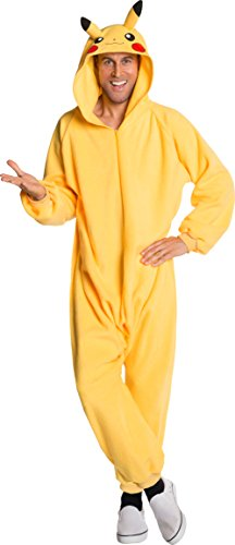 Rubie's Men's Pokemon Pikachu Jumpsuit Costume, As As Shown, X-Large