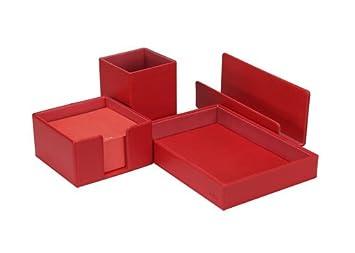 NAVA Set da Scrivania Saffiano rosso 500768