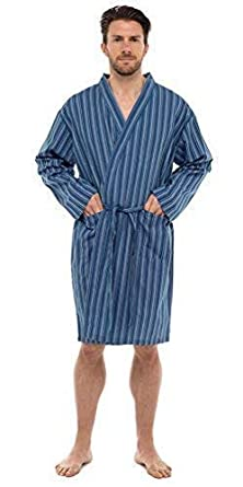 900eec1e787 Best Deals Direct UK Mens Stripe   Check Woven Summer Cotton Poly Kimono  Wrap Dressing Gown Robe  Amazon.co.uk  Clothing