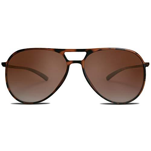 SOJOS Handgemacht Ultra Leicht Super Elastisch TR90 Pilot Damen Herren Sonnenbrille Polarisiert JOURNEY