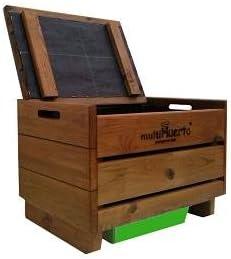 Vermicompostador madera sencillo Multihuerto: Amazon.es: Jardín
