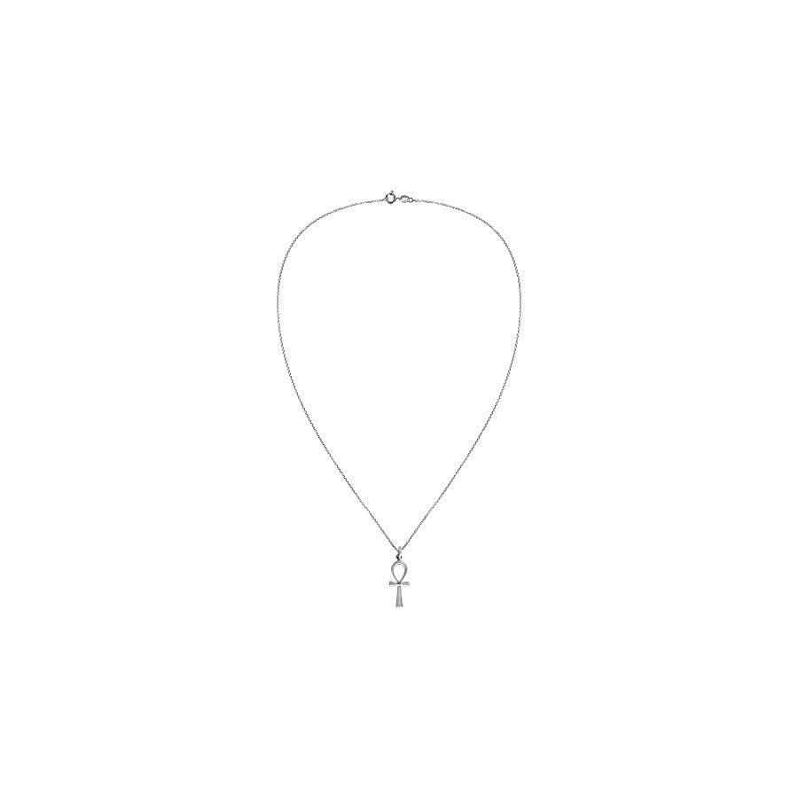 AeraVida Eternity Egyptian ANKH Cross .925 Sterling Silver Pendant Necklace