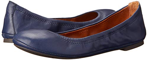 7 para M Lucky Leoprd Navy American US Leather mujer 5 Emmie Brand B Luxe de Bailarinas cuero 8xr7XqZx