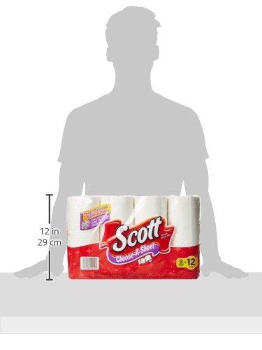 Scott Paper Towels, Choose-A-Sheet, Mega Roll, 8 Count