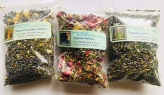 - Ravenz Roost Spell Mix Sampler ~ Tranquility ~ Happiness ~ Peace & Purification ~ 3 mixes 1/2 oz ea