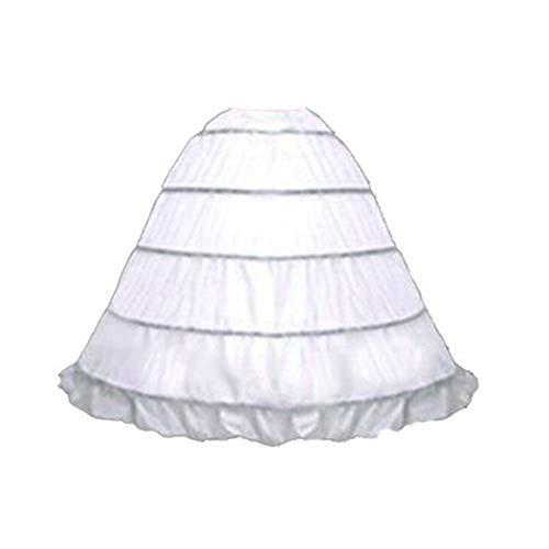 SACAS Adjustable 5 Bone Hoop Skirt Bridal Renaissance Civil War Skirt Slip