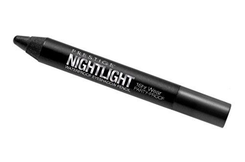 Prestige Cosmetics Nightlight Waterproof Eyeshadow Pencil, Black Pearl, .18 Ounce