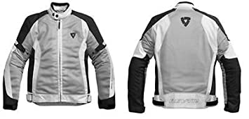 Chaqueta Moto Revit Rev it Airwave Verano Plateado Negro tg L