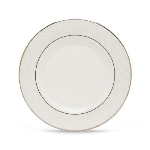 Lenox Opal Innocence Platinum Banded Bone China Salad Plate