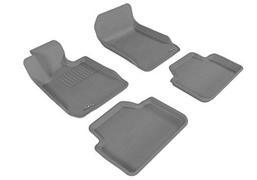 Rear 3 Bumper Series Sedan (3D MAXpider Complete Set Custom Fit All-Weather Floor Mat for Select BMW 3 Series Sedan (E90) Models - Kagu Rubber (Gray))